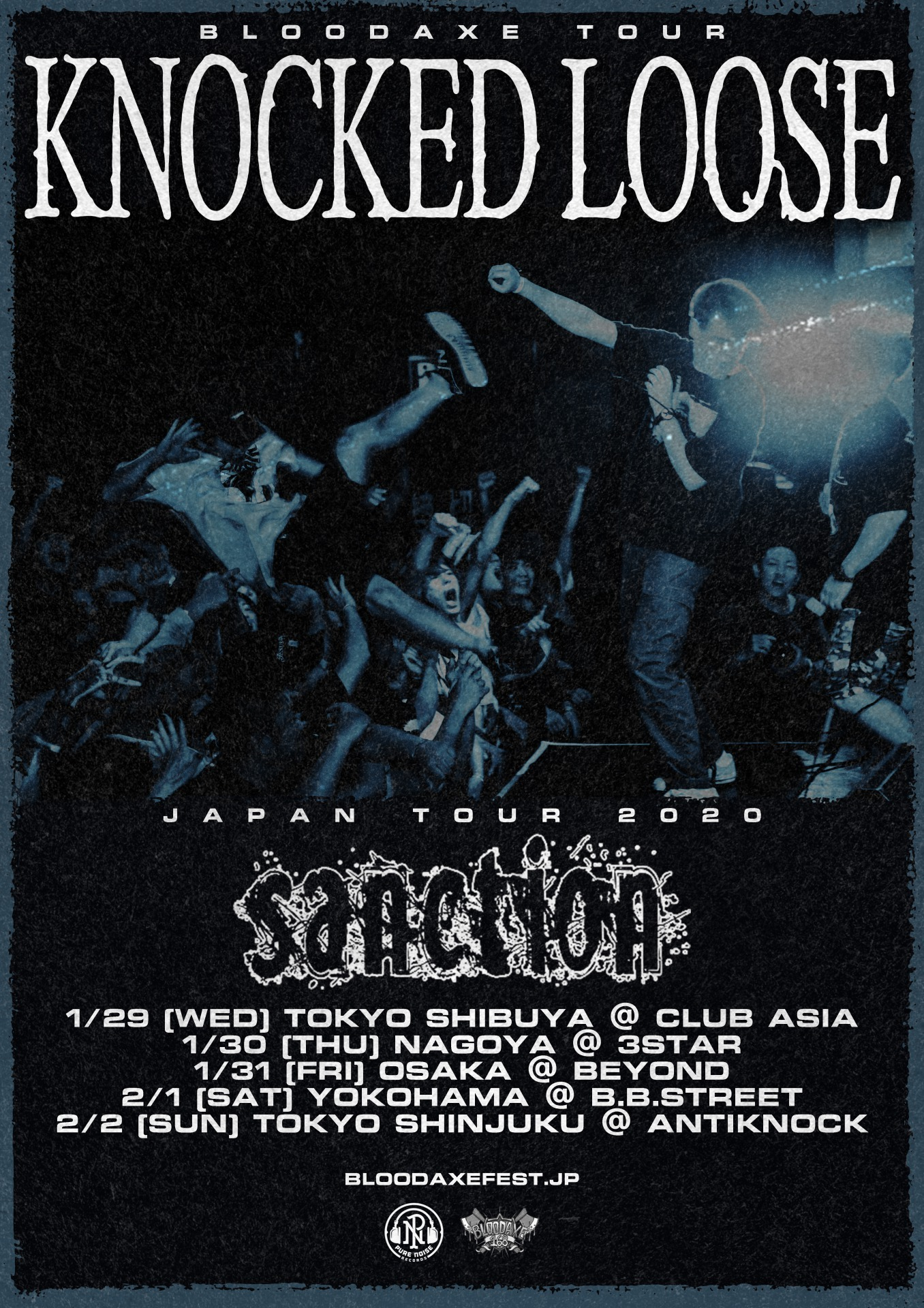 KNOCKED LOOSE / SANCTION JAPAN TOUR 2020
